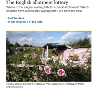 Allotment data on the Guardian
